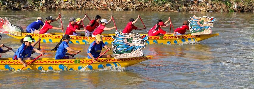 La course de sampans