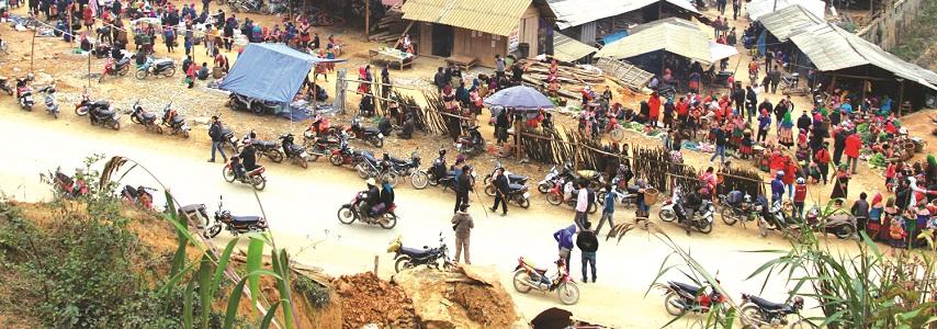Marchés de campagne au Vietnam