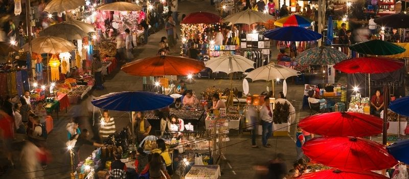Visite des marchés nocturnes en Indochine | Voyage au Vietnam