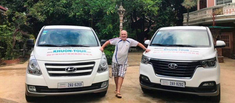 Voiture chauffeur indépendant au Cambodge