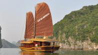 Croisiere en baie Halong sur jonque CatBa Imperial 4 cabines 3 jours 2 nuits