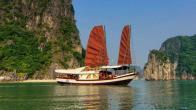 Croisiere en baie Halong sur jonque l'amour (Princess) 1 en 2 jours 1 nuit